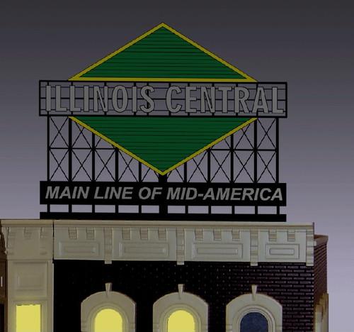 Miller Engineering HO/O 88-3051 Illinois Central Billboard, Large
