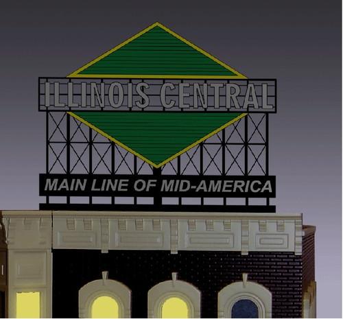 Miller Engineering HO/N 44-3052 Illinois Central Billboard, Small
