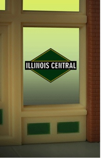 Miller Engineering HO/O 9085 Illinois Central Window Sign