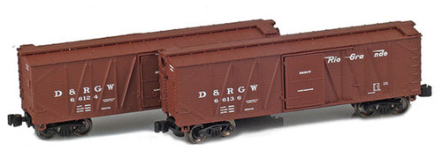 American Z Line Z 903181-1 40' Outside Braced Box Cars, Denver and Rio Grande Western (2-Pack)
