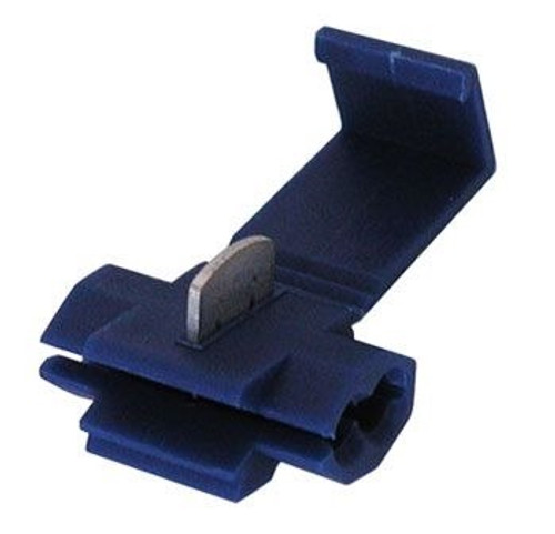 A.E. Corporation 560B Run and Tap Quick Splice Connector for 14-16 Gauge Wire, Blue (5)