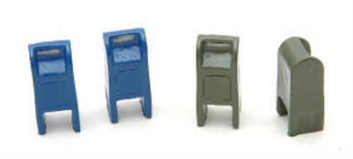 Durango Press HO 115 Street Mail Boxes (4)