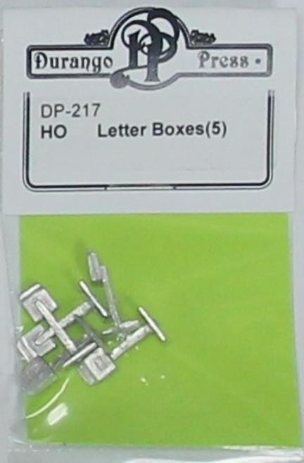 Durango Press HO 217 Letter Boxes (2)