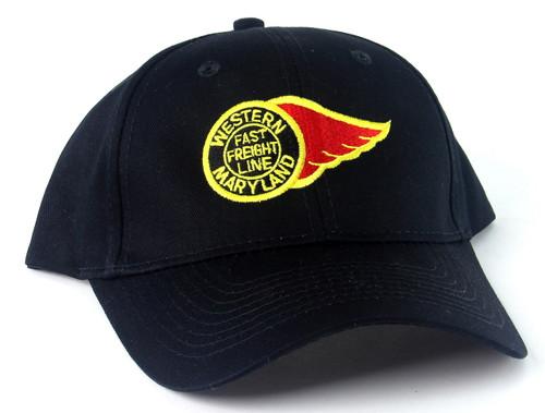 Nissin Black Embroidered Adjustable Hat, Western Maryland Fireball Logo