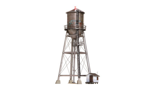 Woodland Scenics N BR4954 Built and Ready Rustic Water Tower (Lighted)