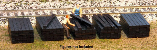American Model Builders HO 214 Railroad Tie Stacks Kit