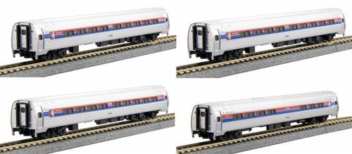 Kato N 1068011 Amfleet I Amtrak (Phase I) 4-Car Set