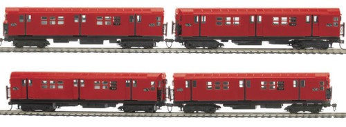 MTH HO 80-2370-0 R-17 4-Car Subway Set, Metropolitan Transportation Authority (North Bound Express) (DCC Ready)