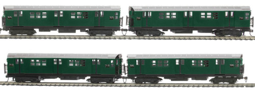 MTH HO 80-2373-1 R-21 4-Car Subway Set, Metropolitan Transportation Authority (North Bound) (Proto Sound 3)