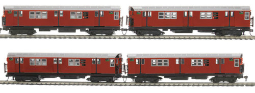 MTH HO 80-2375-1 R-21 4-Car Subway Set, Metropolitan Transportation Authority (North Bound) (Proto Sound 3)