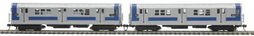 MTH HO 80-2376-3 R-21 2-Car Subway Add-On Non Powered Set, Metropolitan Transportation Authority (South Bound)