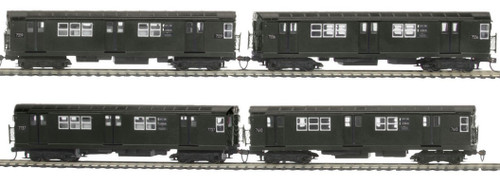MTH HO 80-2379-0 R-22 4-Car Subway Set, Metropolitan Transportation Authority (North Bound) (DCC Ready)