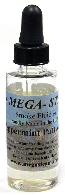 JT's Mega Steam O/HO PEPPERMINT Smoke Fluid 2 Oz. Bottle, Peppermint Pattycake