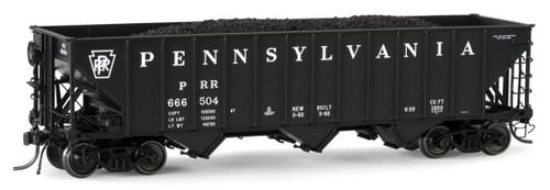 "Arrowhead Models HO ARR-1005-12 ""Committee Design"" Hopper with Coal Load, Pennsylvania Railroad #666615"