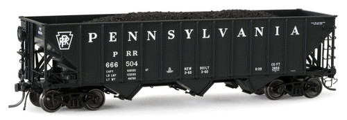 "Arrowhead Models HO ARR-1005-16 ""Committee Design"" Hopper with Coal Load, Pennsylvania Railroad #666651"
