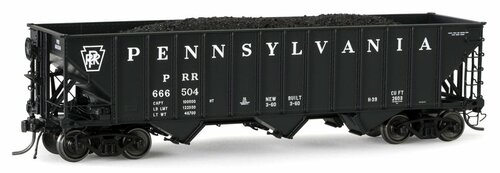 "Arrowhead Models HO ARR-1005-23 ""Committee Design"" Hopper with Coal Load, Pennsylvania Railroad #666720"
