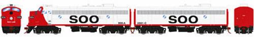 Athearn Genesis HO G22728 FP7A/F7B, Soo Line (Freight) #500a/2501c