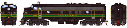 Athearn Genesis HO G22829 FP7A, Reading (Passenger) #906 (DCC and Sound Equipped)
