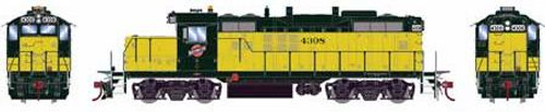 Athearn Genesis HO G65047 GP9R, Chicago and Northwestern #4308