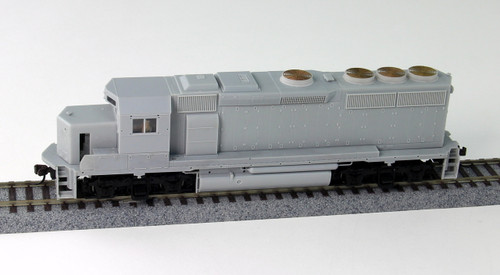 Atlas Master Line HO 10000649 Silver Series EMD GP40-2 Disel Locomotive Phase 2, Undecorated (Curved A/C)