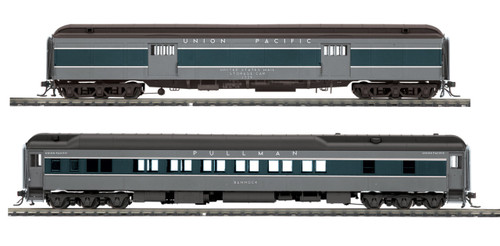 MTH HO 80-40005 Heavyweight Baggage and Sleeper Passenger Set, Union Pacific (2-Car Set)