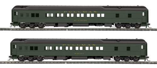 MTH HO 80-40009 Heavyweight Sleeper Passenger Set, Pullman (2-Car Set)