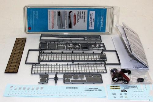 Lonestar Models HO 5019 Trailmobile 40' Flatbed Trailer Kit, Silver