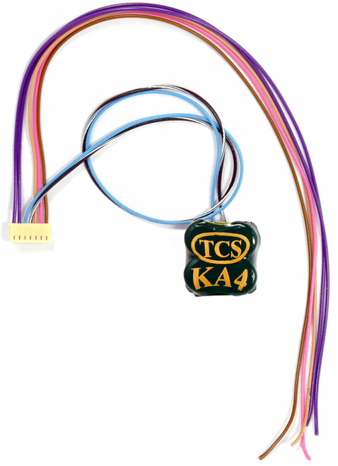 Train Control Systems HO 1595 WAUX-KA4 Replacement Auxiliary Harness for WOW101 Decoders