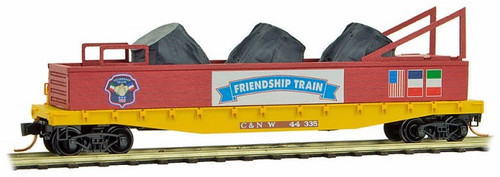 Micro-Trains N 04500460 50' Flat Car with Fishbelly Side and Side Mount Brake Wheel, Chicago and Northwestern #44335