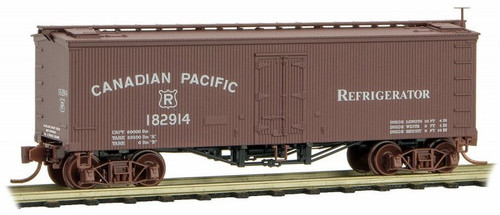 Micro-Trains N 05800250 36' Wood Sheathed Ice Refrigerator Car with Truss Rods, Canadian Pacific #182914