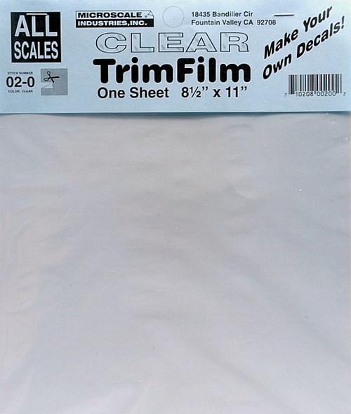Microscale 02-0 Clear Trim Film
