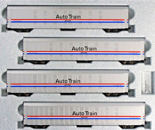 Kato N 1065508 Autorack Set #2, Amtrak (Phase III) AutoTrain (4-Car Set)