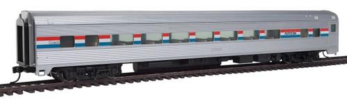 Walthers Mainline HO 910-30001 85' Budd Large Window Coach Car, Amtrak (Phase III)