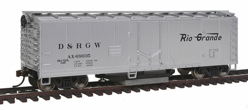 Walthers Trainline HO 931-1482 Track Cleaning Box Car, Rio Grande #AX69035