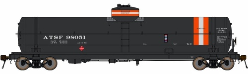 American Limited HO 1950 Class TK-O Welded Tank Car, Atchison Topeka and Santa Fe (Solvent) #98021