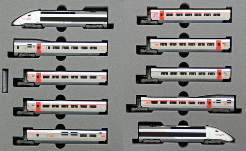 "Kato N 101325 TGV Lyria ""Carmillon"" 10-Car Set"