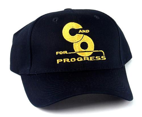 "Nissin Black Embroidered Adjustable Hat, Chesapeake and Ohio ""For Progress"" Logo"