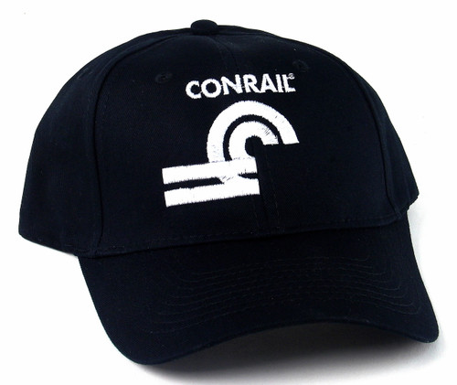 Nissin Black Embroidered Adjustable Hat, Conrail Can Opener Logo