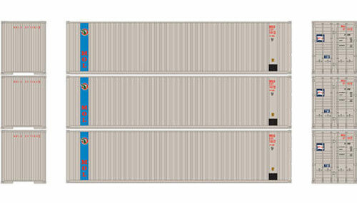 Athearn HO 29192 40' Containers with Flat Panel, MOL (3)