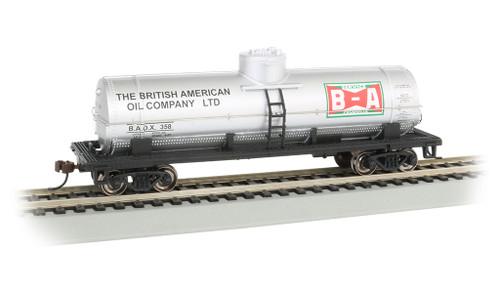 Bachmann Silver Series HO 17812 40' Single Dome Tank Car, British American Oil #358