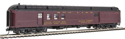 Walthers Proto HO 920-17407 70' Heavyweight Railway Post Office Baggage Car with Clerestory Roof, Soo Line