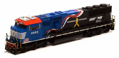 """Athearn Genesis HO G65204 SD60E, Norfolk Southern """"Honoring Our Veterans"""" #6920"""