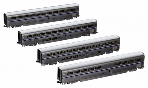 Kato N 1063515 Amtrak Superliner (Phase IVb) 4-Car Set