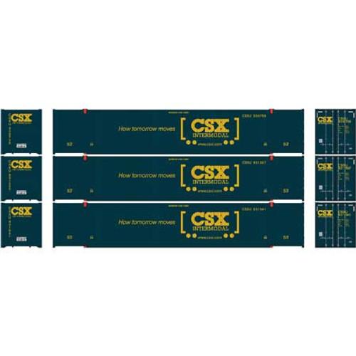 Athearn HO 26645 53' CIMC Containers, CSX #1 (3)