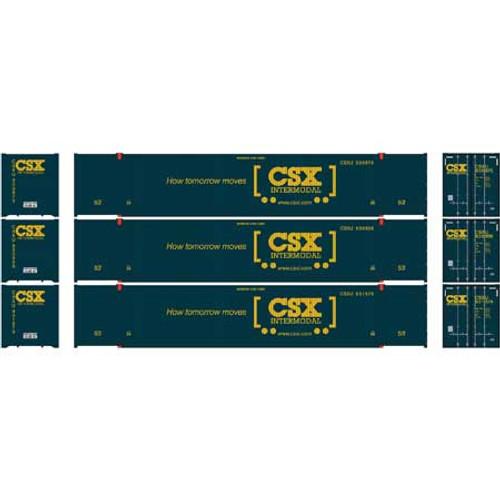 Athearn HO 26646 53' CIMC Containers, CSX #2 (3)