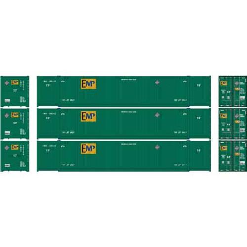 Athearn HO 26647 53' CIMC Containers, EMP #1 (3)
