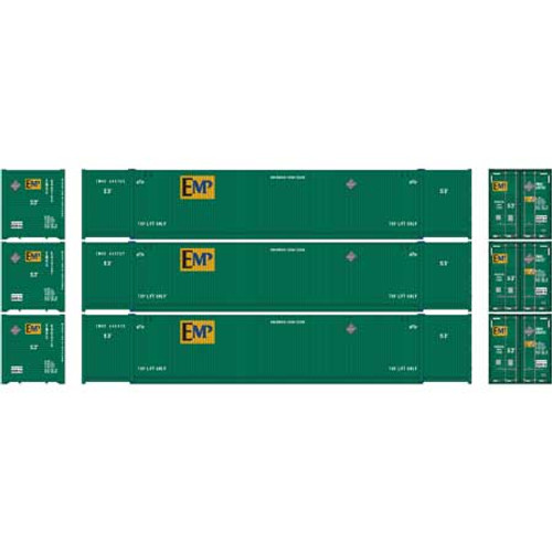 Athearn HO 26648 53' CIMC Containers, EMP #2 (3)