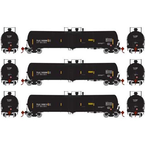 Athearn HO 28277 30,000 Gallon Ethanol Tank Cars, TILX (Black) #2 (3)