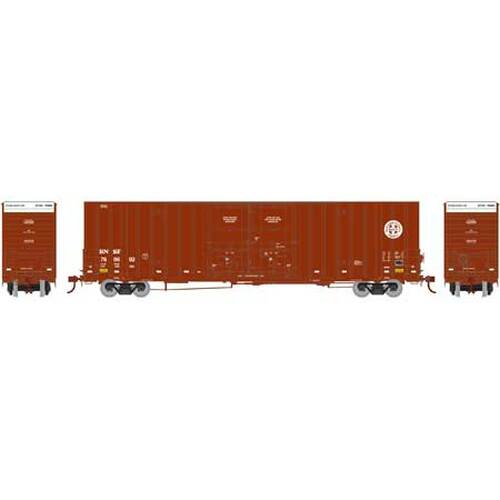 Athearn HO 75076 60' Gunderson Double Door Hi-Cube Box Car, Burlington Northern Santa Fe #2