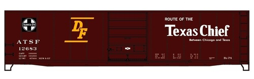 Accurail HO 81071 50' Steel Box Car Single Door Kit, Santa Fe (Texas Chief) #12683